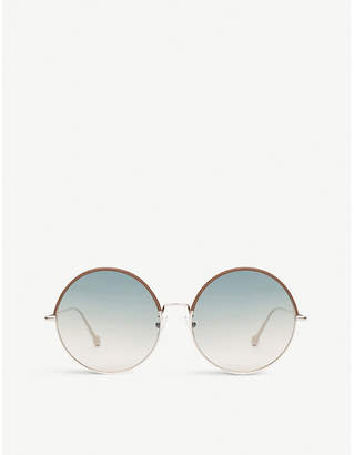 Loewe Leather-detail sunglasses