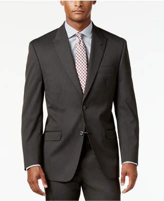 Sean John Men's Classic-Fit Brown Stripe Suit Jacket $275 thestylecure.com