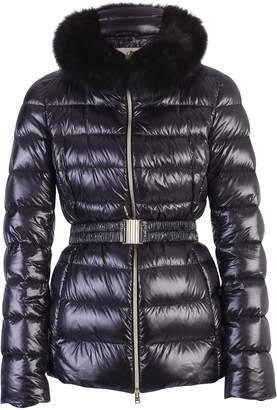 Herno Claudia Fox Fur Nylon Padded Jacket