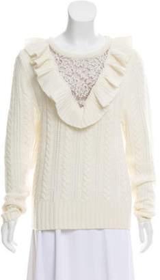 Nightcap Clothing Ruffled Wool Sweater
