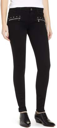 Paige Transcend - Studded Indio Zip Skinny Jeans
