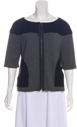 Tory Burch Short Sleeve Zip Front Blazer