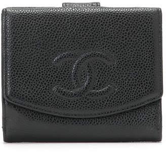 Chanel (シャネル) - Luxury Brands Vintage Bags & Accessories CHANEL 型押しレザー 二つ折りウォレット ブラック