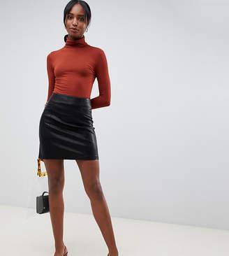 New Look Tall pu mini skirt in black