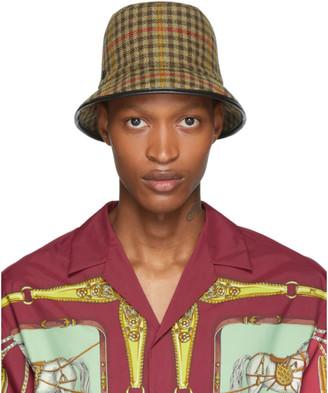 Gucci Beige Plaid Bucket Hat