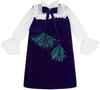 Aristocrat Kids Velvet Shirt Dress