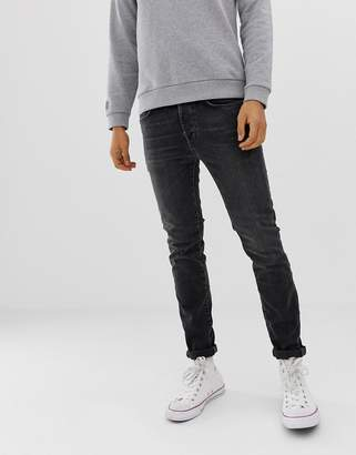 Selected skinny fit jeans in black wash