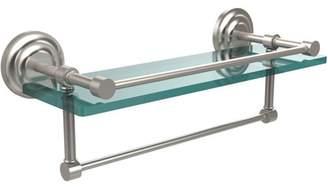 """Allied Brass 16"""" Gallery Glass Shelf with Towel Bar"""