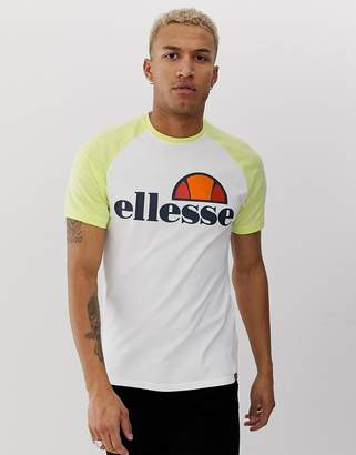 Ellesse Cassina t-shirt in white & yellow