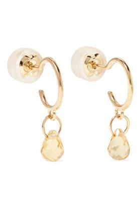 Melissa Joy Manning 14-karat Gold Citrine Earrings