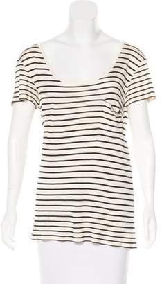 Saint Laurent Silk Striped T-Shirt