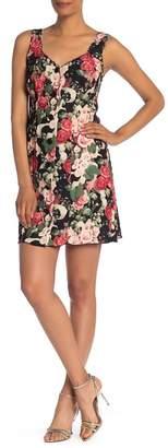 Anna Sui Rose Garland Sleeveless Crepe Dress