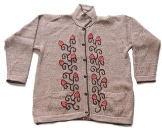 Alpakaandmore Hand-embroidered Cardigan Alpaca Wool Flowering Vine