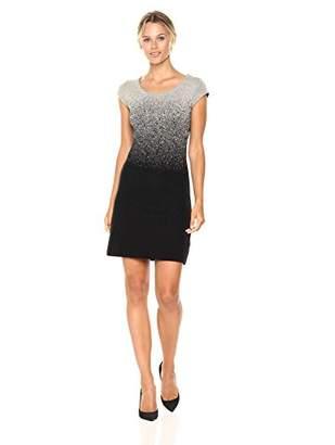 Desigual Women's Heather Woman Flat Knitted Short Sleeve Dress