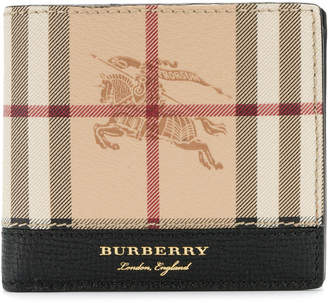 Burberry heymarket check wallet