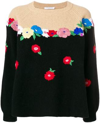 Vivetta flower knit sweater