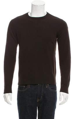 John Varvatos Suede-Accented Cashmere Sweater