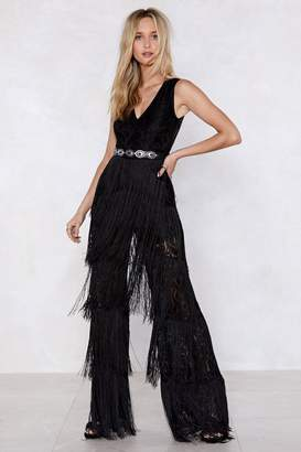 Nasty Gal Shake Your Body Lace Jumpsuit