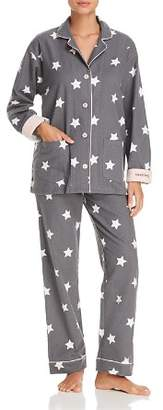 PJ Salvage Starry-Eyed Flannel Cotton Pajama Set - 100% Exclusive