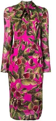 Dolce & Gabbana floral long-sleeve midi dress