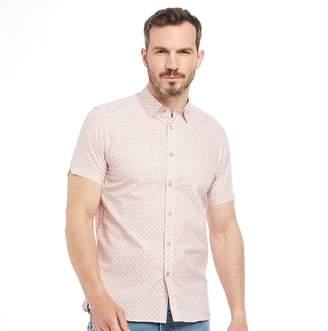 Ted Baker Mens Angaz Geo Print Short Sleeve Shirt Pink