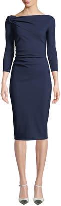 Chiara Boni Delbar Body-Con Dress w/ Hard Donut Detail