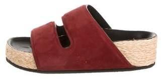 Celine Suede Slide Sandals