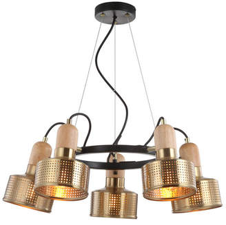 "Jonathan Y Designs Gallery 24"" 5-Light Adjustable Spotlight Metal Led Pendant"