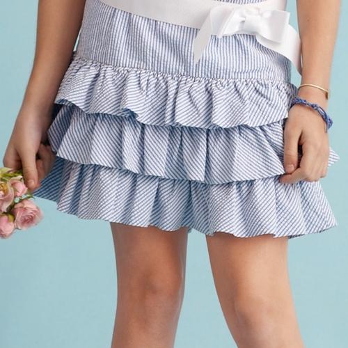 Pull-On Seersucker Skirt