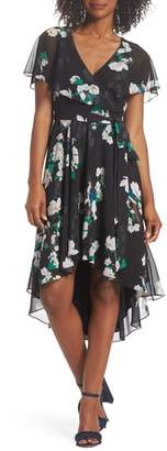 Eliza J Flutter Sleeve High/Low Dress