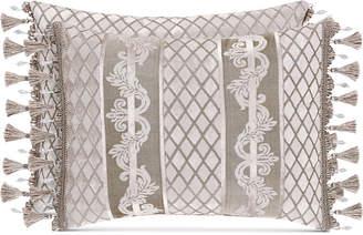 """J Queen New York Bel Air Sand Boudoir 20"""" x 12"""" Decorative Pillow Bedding"""