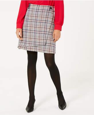 Bar III Asymmetrical Tweed Skirt