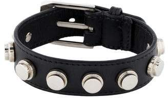 Pre Owned At Therealreal Saint Lau Studded Leather Bracelet