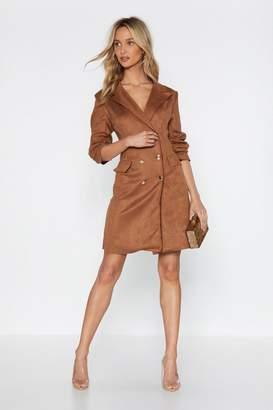 Nasty Gal Kick Some Buttons Blazer Dress