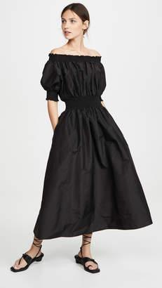 ADAM by Adam Lippes Taffeta Smocked Dress