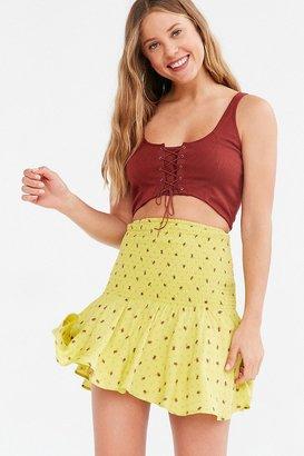 Kimchi Blue Haystack Smocked Mini Skirt $49 thestylecure.com