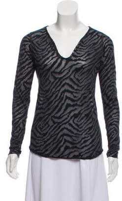 Zadig & Voltaire Printed Long Sleeve Top