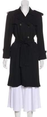 Balenciaga Button-Up Knee-Length Coat