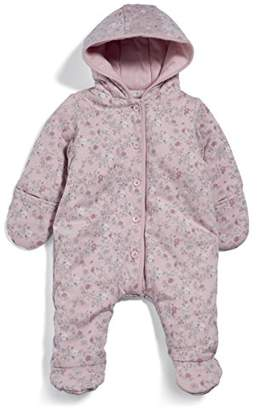 Mamas and Papas Baby Girls' Pramsuit Snowsuit,(Manufacturer Size: New Born)