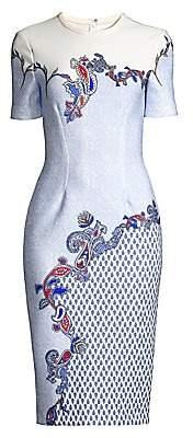 Yigal Azrouël Azrouël Women's Printed Scuba Dress