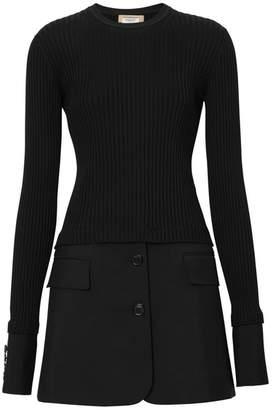 9b935804023 Burberry Tailored Hem Rib Knit Wool Mohair Dress