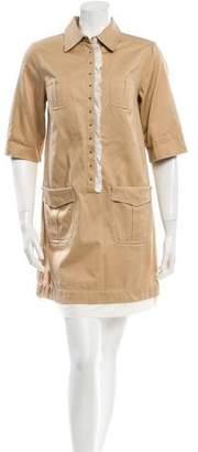 3.1 Phillip Lim Ruffle-Accented Mini Dress