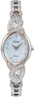 Seiko Women's Core Crystal Stainless Steel Solar Watch - SUP340 $350 thestylecure.com