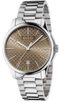 Gucci G Timeless Stainless Steel Bracelet Watch