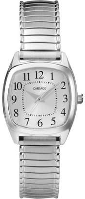 Timex Carriage by Women's Courtney Watch, Silver-Tone Stainless Steel Expansion Band