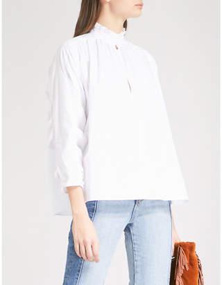 Maje Lamier cotton-poplin shirt