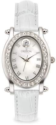 Croton April Birthstone Watch with Mother of Pearl Dial