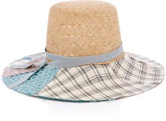Albertus Swanepoel Elsie Grosgrain-Trimmed Straw Hat