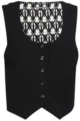 Diane von Furstenberg Paneled Printed Crepe De Chine And Crepe Vest