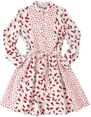 Stella McCartney Hearts & Ladybugs Print Viscose Dress